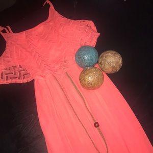 Dresses & Skirts - peach maxi dress.